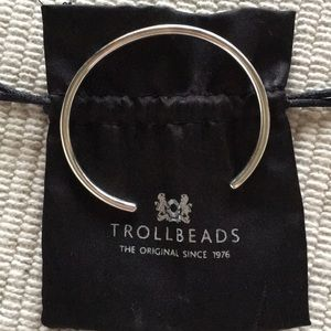 Trollbeads classic sterling silver bangle bracelet
